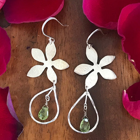 Peridot Rain Earrings