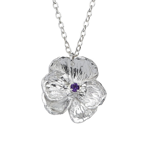 Purple Pansy Necklace