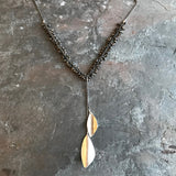 Pyrite Rain Necklace handmade jewelry by Garden of Silver in Westhampton Beach.