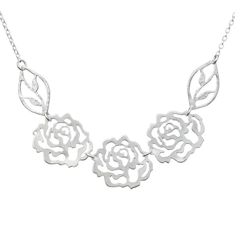 Rose Trio Necklace