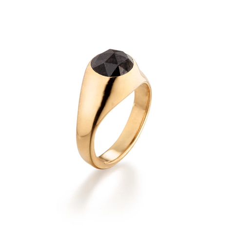 Black Diamond Gold Ring by Jane Bartel at Garden of Silver in Westhampton Beach, Long Island, New York, Hamptons