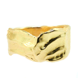 """Tides"" Handmade 18k Yellow Gold Ring by Jill Lynn at Garden of Silver in Westhampton Beach, NY www.gardenofsilver.com"