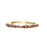 Pink Sapphire Cobblestone Ring by Emilie Shapiro at Garden of Silver in Westhampton Beach, NY, Hamptons, www.gardenofsilver.com