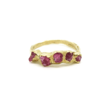 Flower Crown Pink Spinel Ring by Emilie Shapiro at Garden of Silver Handmade Jewelry in Westhampton Beach, NY, Hamptons, www.gardenofsilver.com