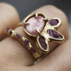 Pink Sapphire Unity Ring by Emilie Shapiro at Garden of Silver Handmade Jewelry in Westhampton Beach, NY Hamptons. www.gardenofsilver.com