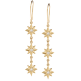 Celestial 3 Star Dangle Earrings by Elizabeth Moore at Garden of Silver in Westhampton Beach, Hamptons, www.gardenofsilver.com