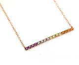 Rainbow Bar Necklace by Jill Lynn at Garden of Silver in Westhampton Beach, NY www.gardenofsilver.com