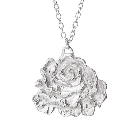 Silvery Rose Necklace