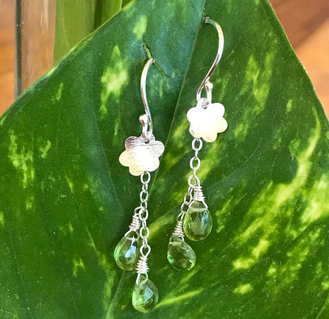 Spring Green Blooms Earrings