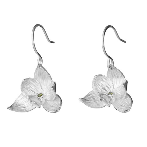 Spring Green Orchid Earrings