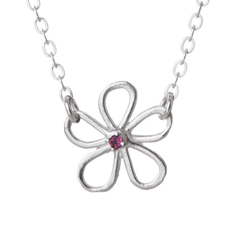 Pink Tiny Flower Necklace