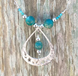 Turquoise Garden necklace handmade with Arizona turquoise and sterling silver by Garden of Silver.