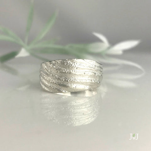 Westhampton Beach Ripple Ring by Jeanette Walker at Garden of Silver in Westhampton Beach, NY.