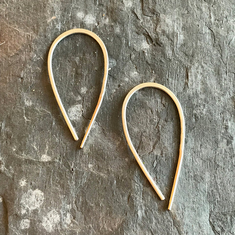 Small Wishbone earrings by Colleen Mauer at Garden of Silver in Westhampton Beach, New York.