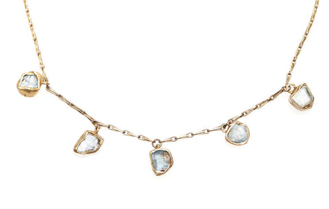 Immersion 5 Stone Necklace by Emilie Shapiro available at Garden of Silver in Westhampton Beach, New York.