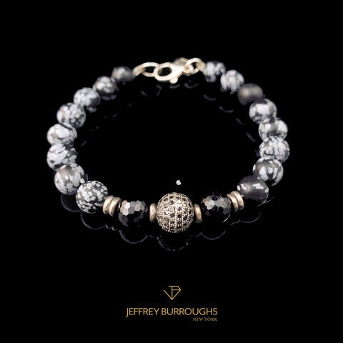 Luminance Black Diamond Bracelet by Jeffrey Burroughs at Garden of Silver in Westhampton Beach, NY. www.gardenofsilver.com