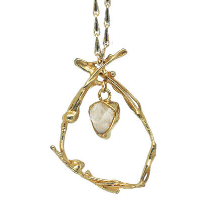 Morning Glory Necklace by Emilie Shapiro available at Garden of Silver Westhampton Beach, NY