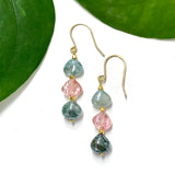 Tourmaline Trifecta Earrings by Garden of Silver in Westhampton Beach, NY www.gardenofsilver.com
