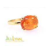 Mandarin Garnet & 18K Yellow Gold Ring by Jill Lynn at Garden of Silver Handmade Jewelry in Westhampton Beach, NY www.gardenofsilver.com