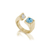 Gold Diamond and Aquamarine ring by Jane Bartel at Garden of Silver in Westhampton Beach, New York