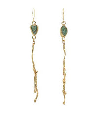 Weeping Willow Earrings by Emilie Shapiro available at Garden of Silver in Westhampton Beach, New York.