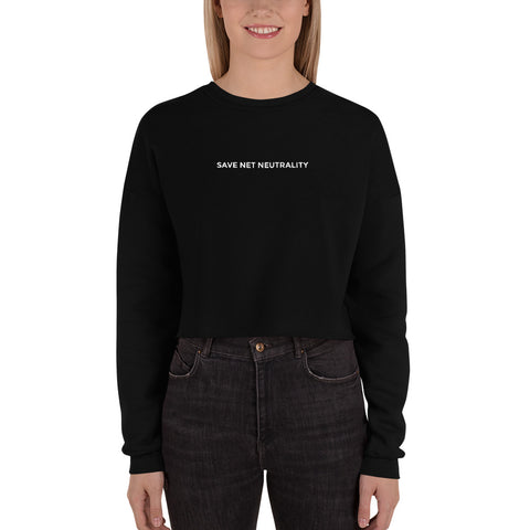 Save Net Neutrality Crop Sweatshirt