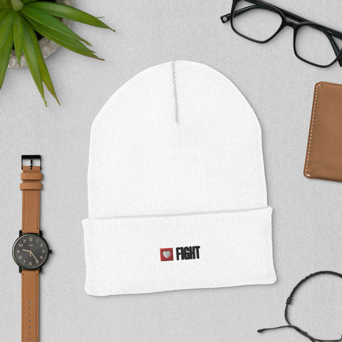 Fight Beanie (White)