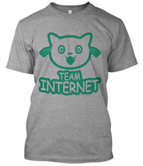 Team Internet smiling cat t-shirt