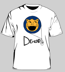 Internet Defense League Cat-face t-shirt