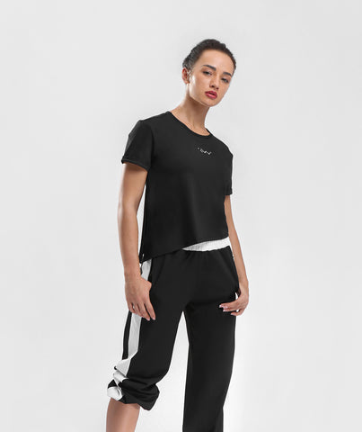Classic Knot Side Tee - Black