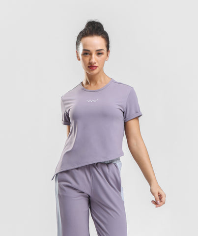Classic Knot Side Tee - Pale Purple