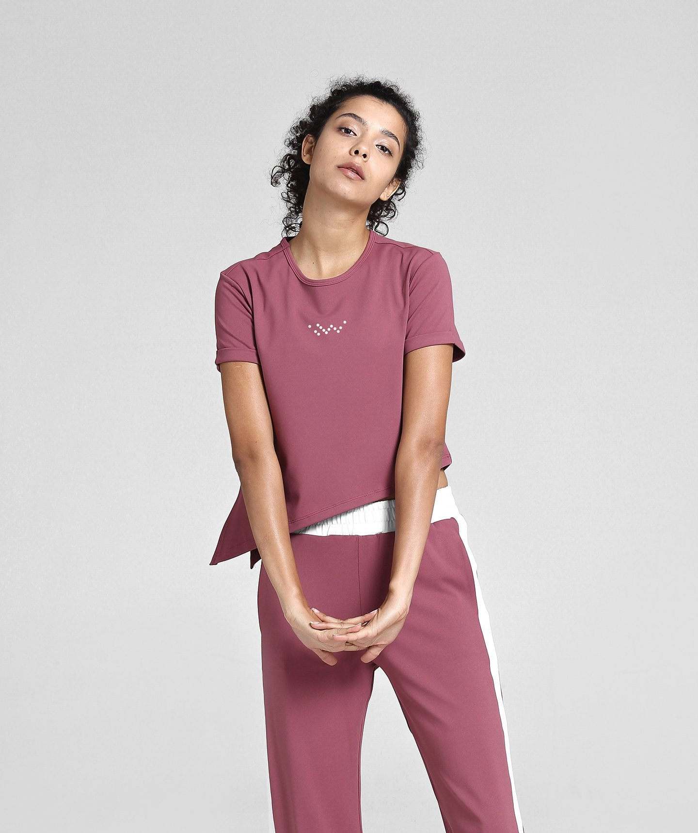 Classic Knot Side Tee - Pale Burgundy