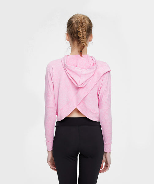 Classic Split Back Pullover Hoodie - Pink