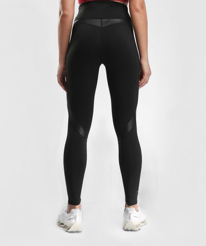 Focus Contrast Push Up Sports Leggings - Black