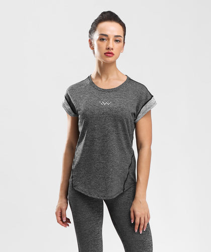 Inside Glamour Rolled Sleeve Tee  - Black