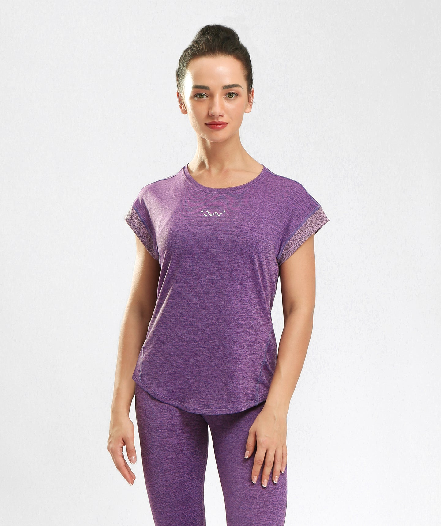 Inside Glamour Rolled Sleeve Tee - Purple