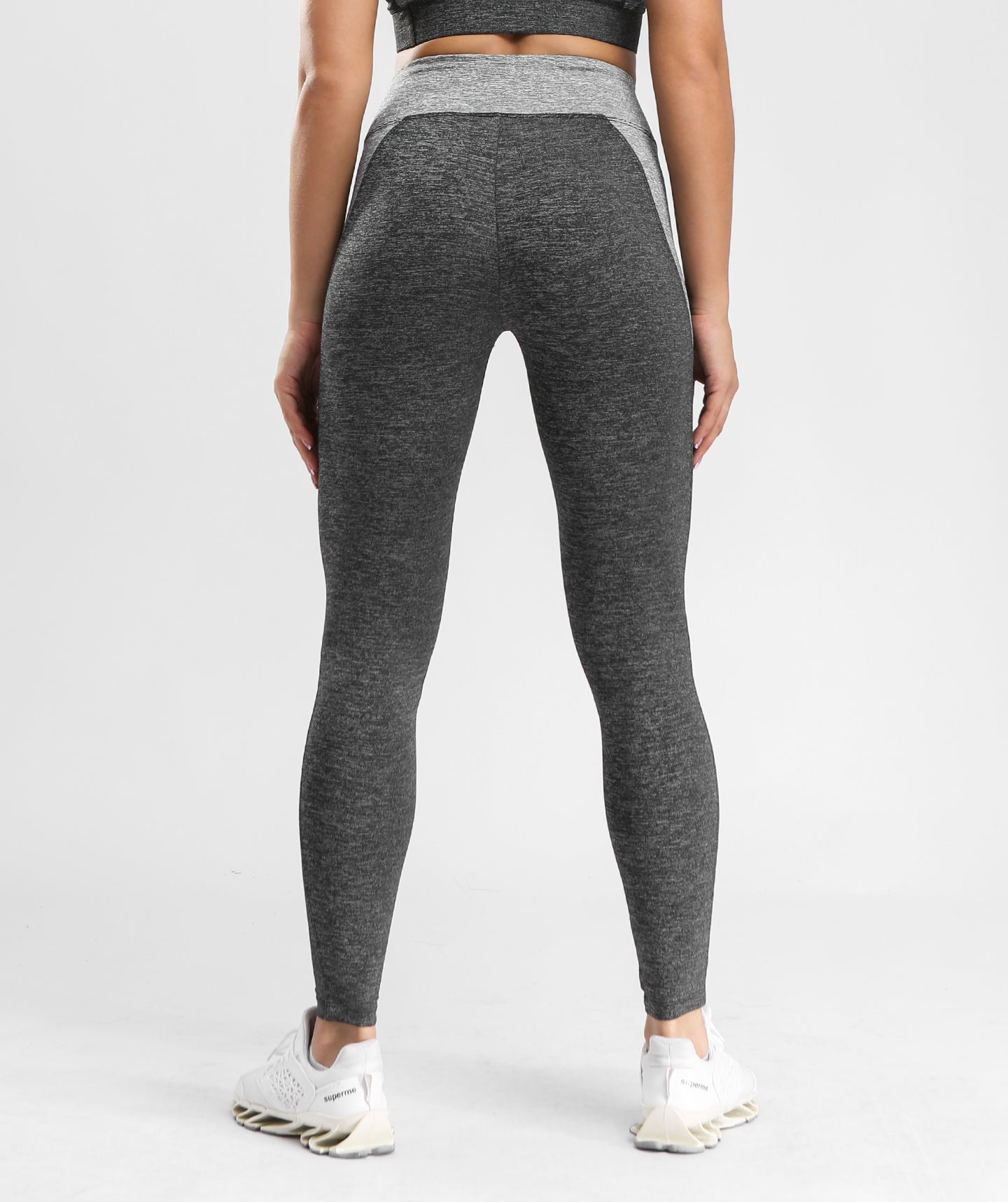 Inside Glamour Side Contrast Sports Leggings - Black