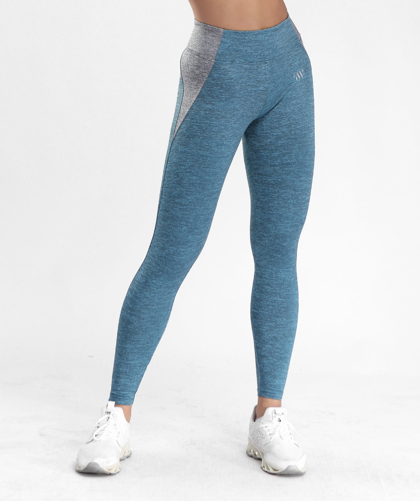 Inside Glamour Side Contrast Sports Leggings - Blue