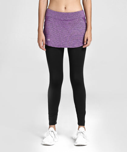 Inside Glamour Skirted Sports Leggings - Purple