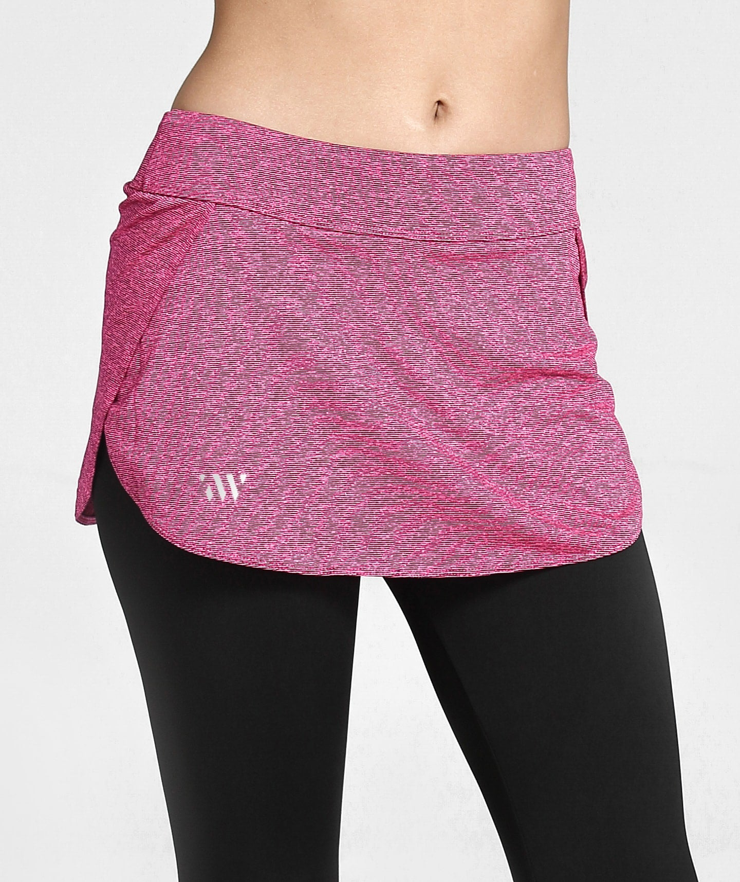 Inside Glamour Skirted Sports Leggings - Rose Red