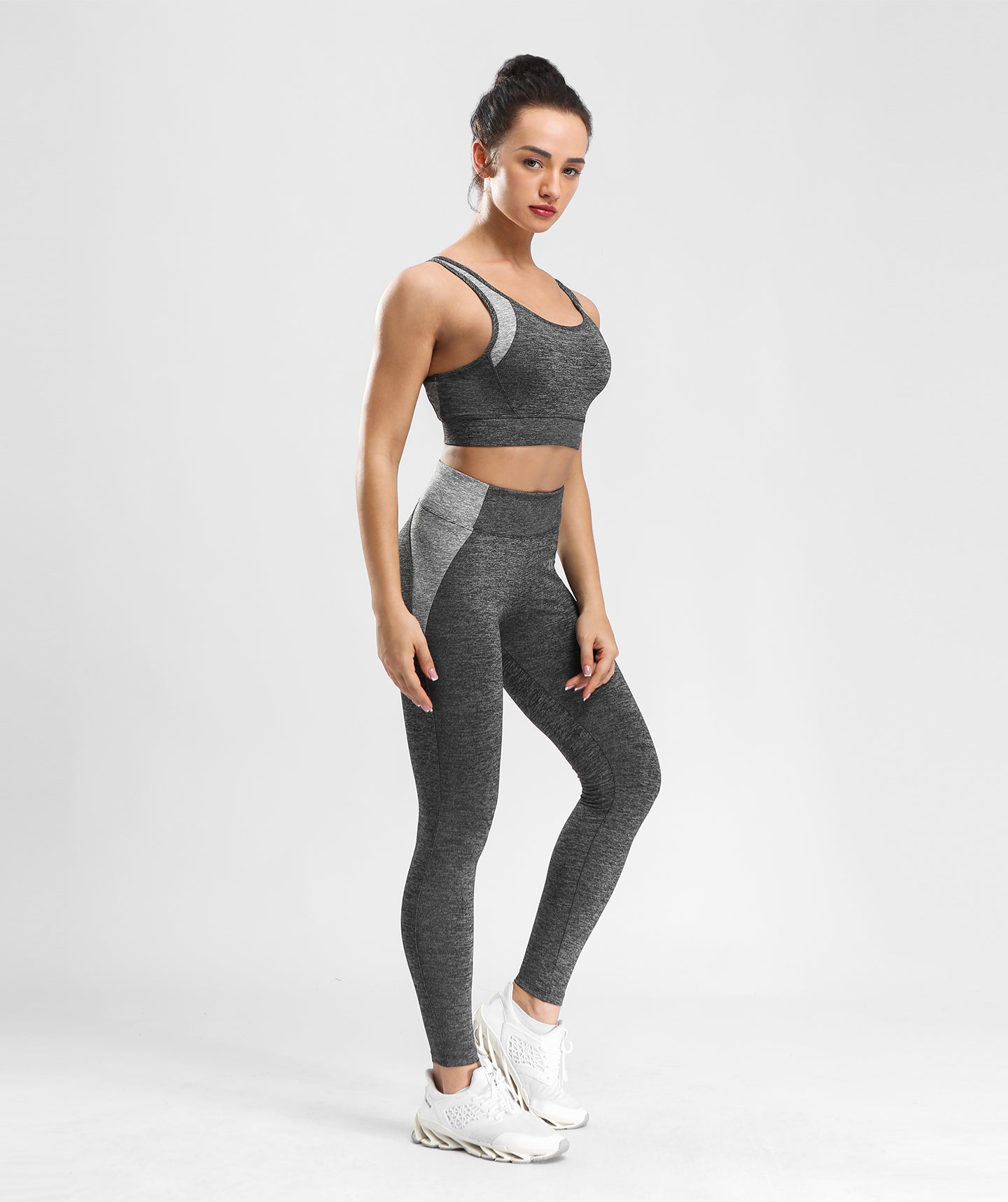 Inside Glamour Padded Comfort Sports Bra - Black