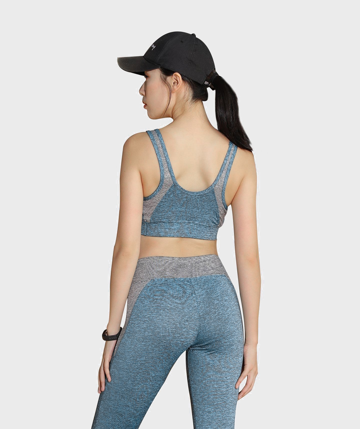 Inside Glamour Padded Comfort Sports Bra - Blue