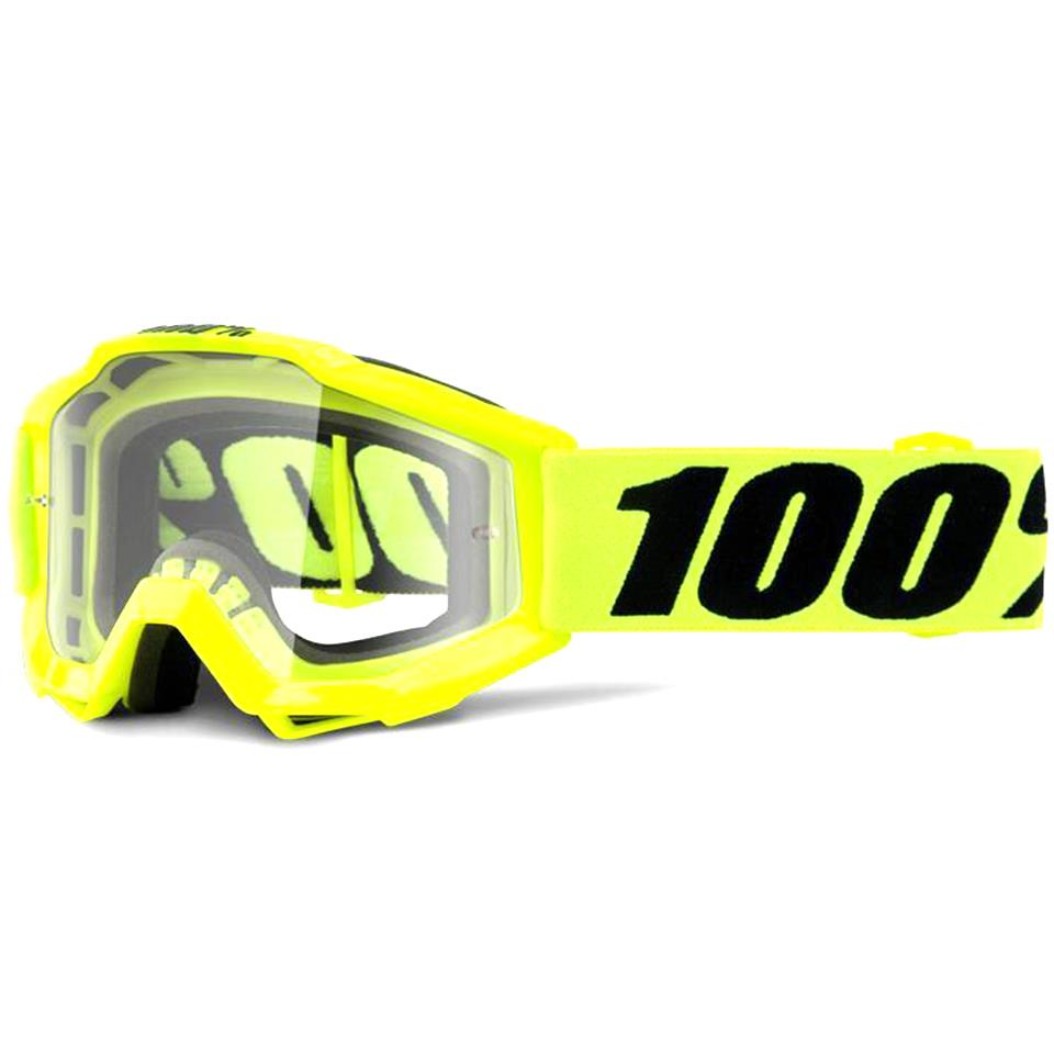 100% Accuri Youth Race Goggle - Fluo Yellow/Clear Lens