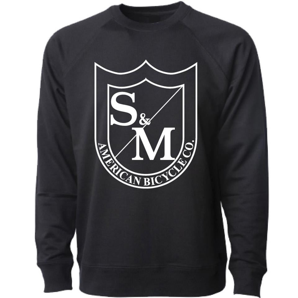 S&M Big Shield Crew Neck Sweatshirt - Black