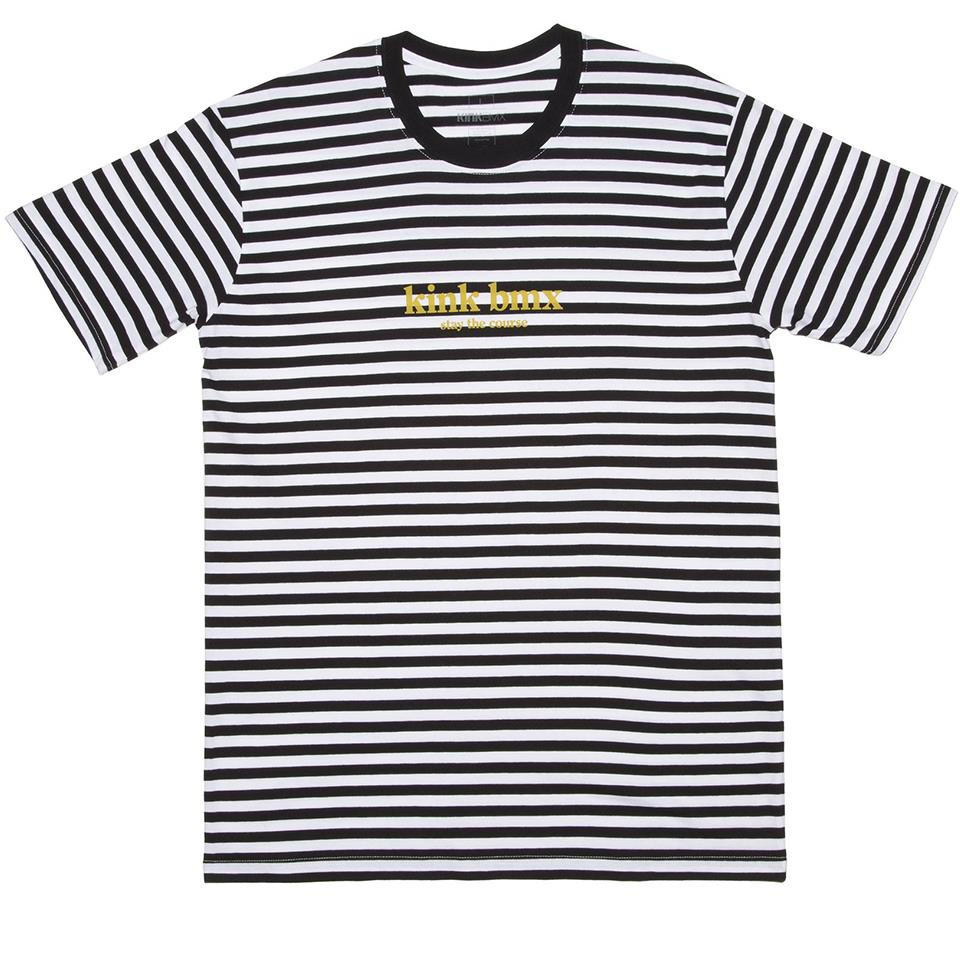 Kink Founders T-Shirt - Black Stripes