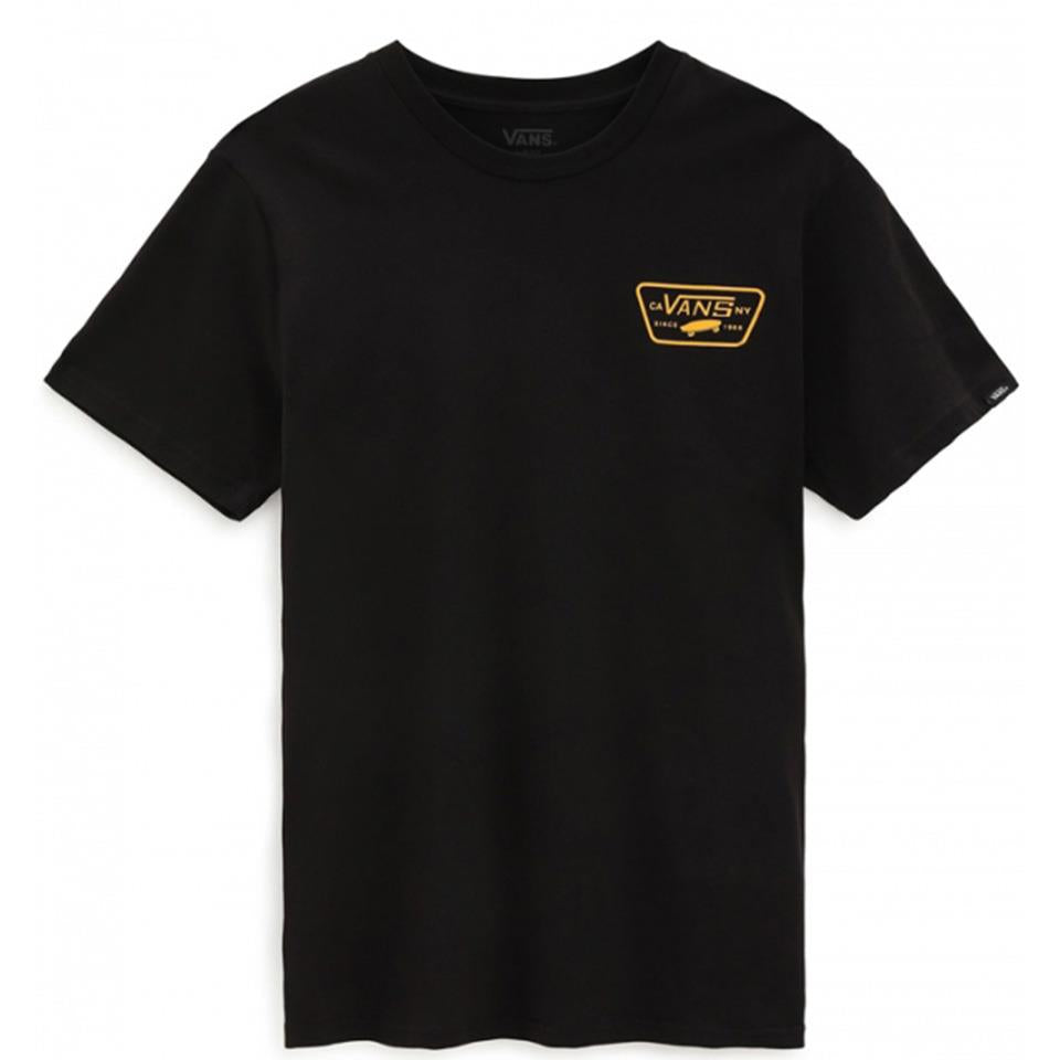 Vans Full Patch Back T-Shirt - Black/Saffron