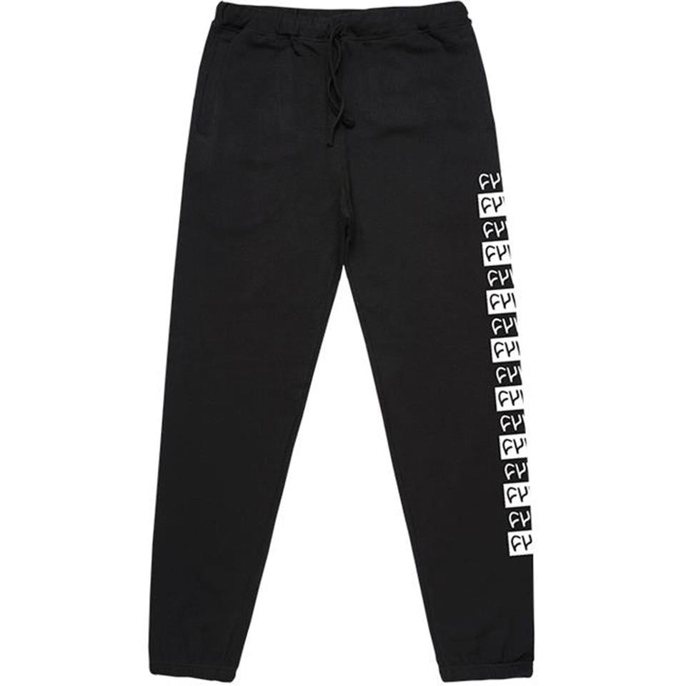Cult Pattern Sweat Pants -  Black