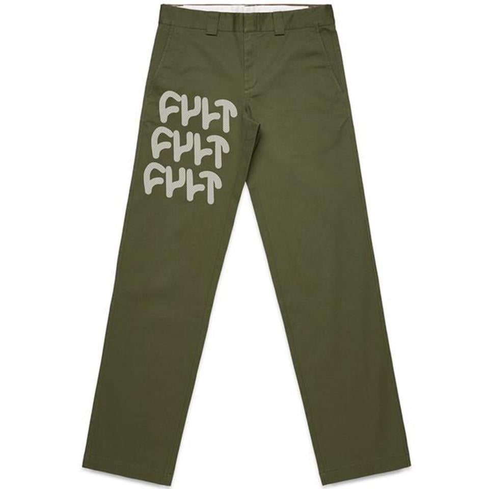 Cult Militant Chino Pants - Army Green