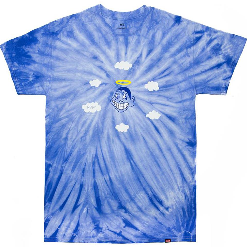 Cult Heaven Top T-Shirt - Blue Tie Dye