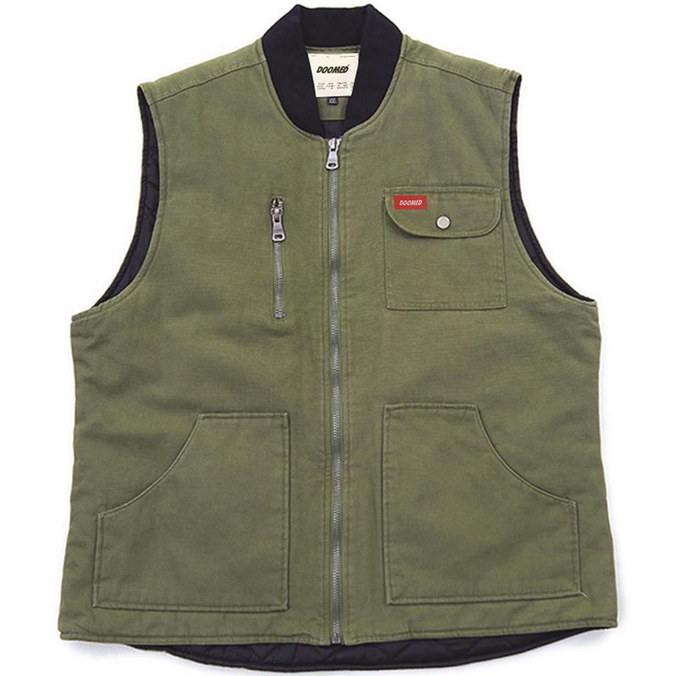 Doomed Labor Vest - Green/Brown
